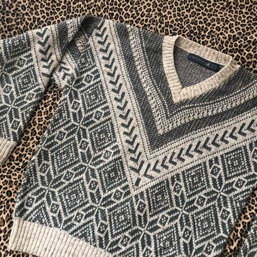 Vintage Ornate Grandpa Sweater Pullover