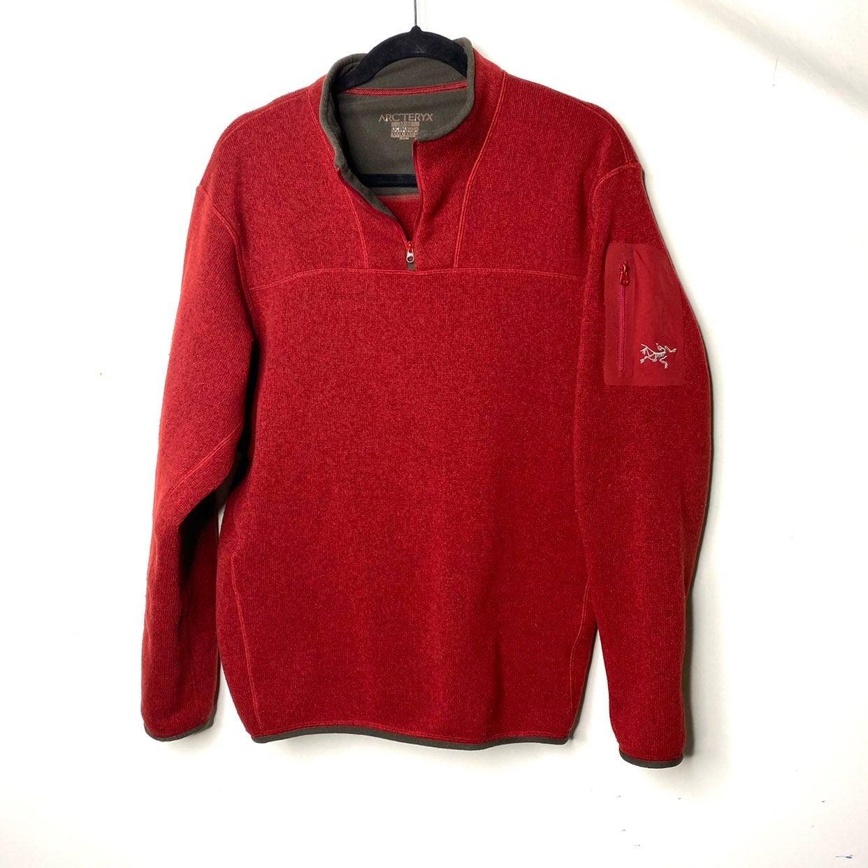 Arcteryx brick red half zip fleece pullo