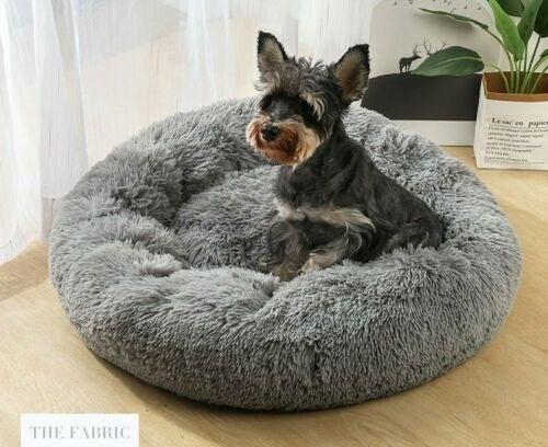Dark Grey Pet Bed Dog (16 in)Diameter