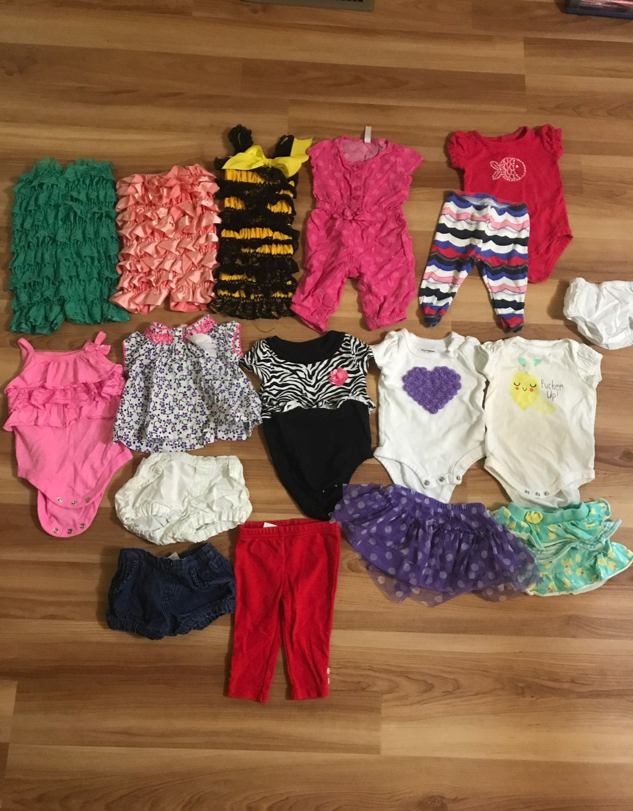0-3 Month Summer Girls Clothes Lot
