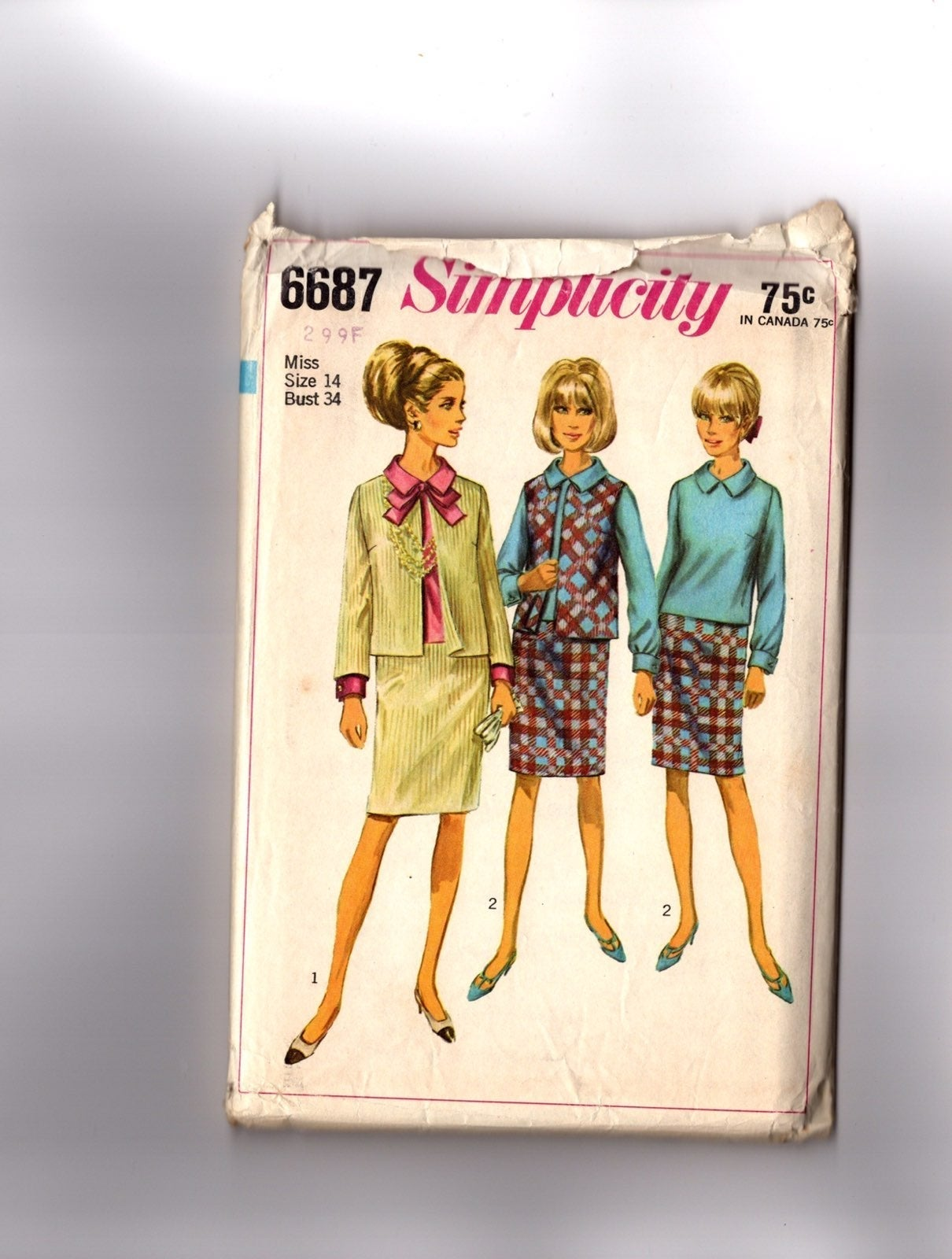 Vintage Pattern 1966 Women's Suit