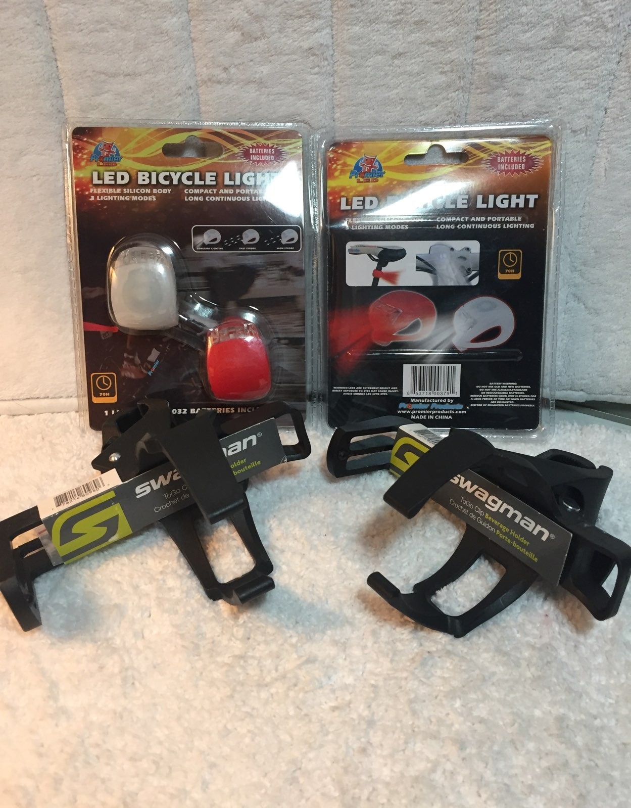 Bicycle Lights / Beverage Holders- NEW