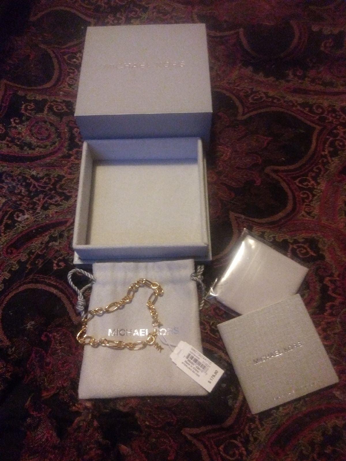 Michael Kors Gold Starter Bracelet New