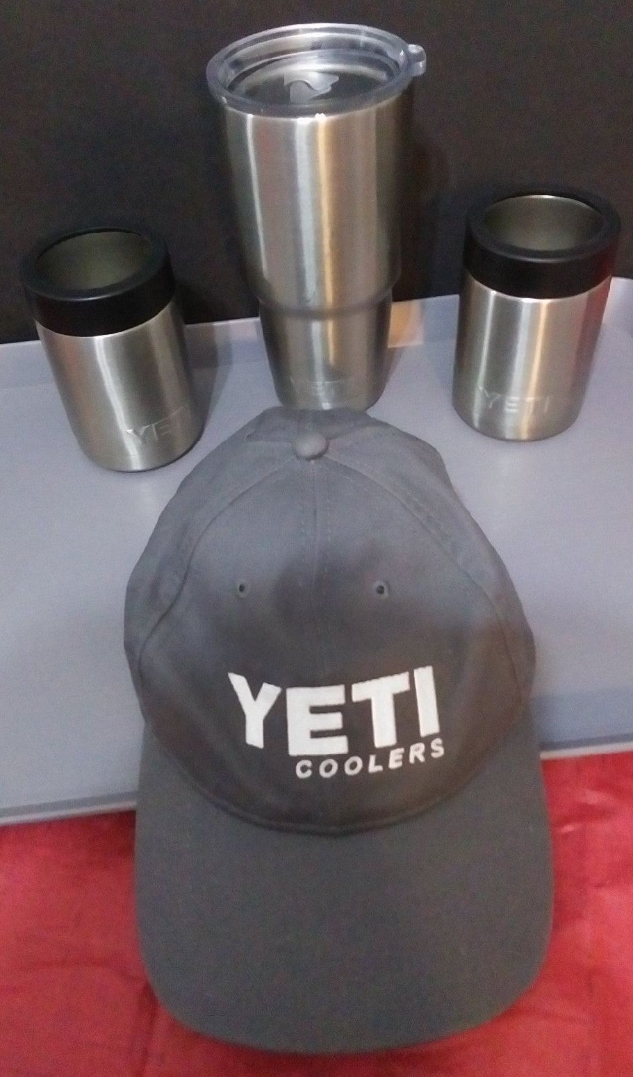 Yeti Colsters, Tumbler, & Hat Lot