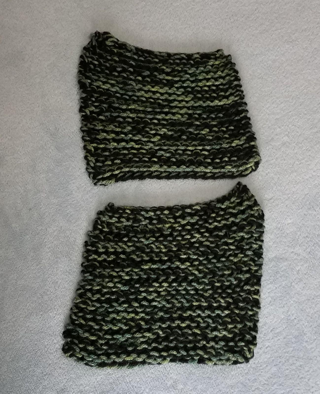 Handmade Dish Cloth Bundle Black Green