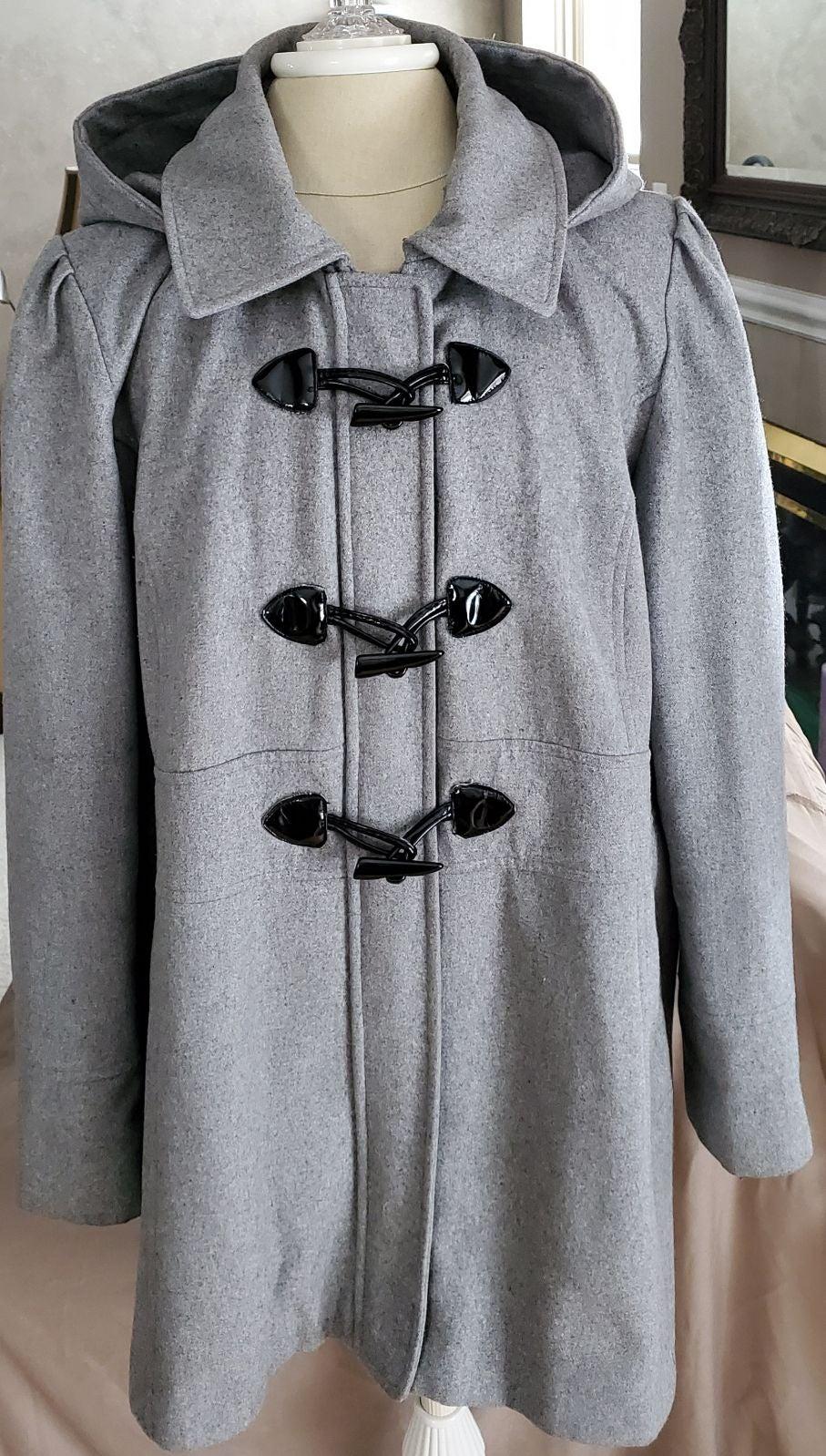 Guess‼️WOOL‼️ Pea Coat gray/ black, 1X