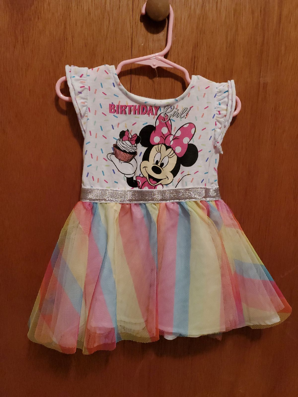 Minnie mouse birthday girl dress size 2T