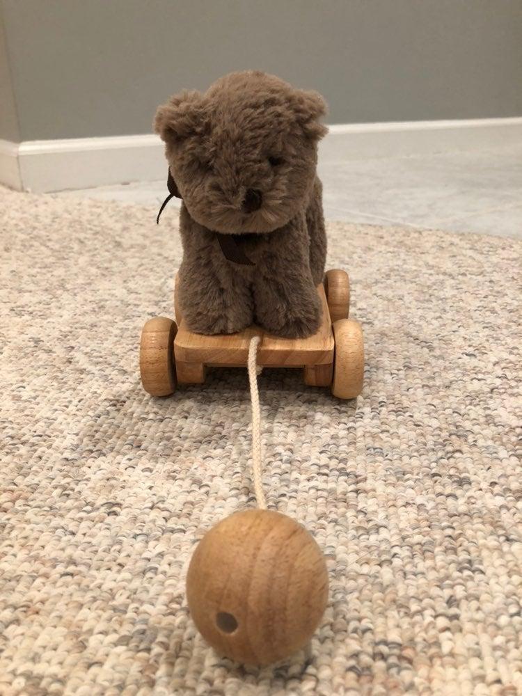 Pottery Barn Kids bear pull toy