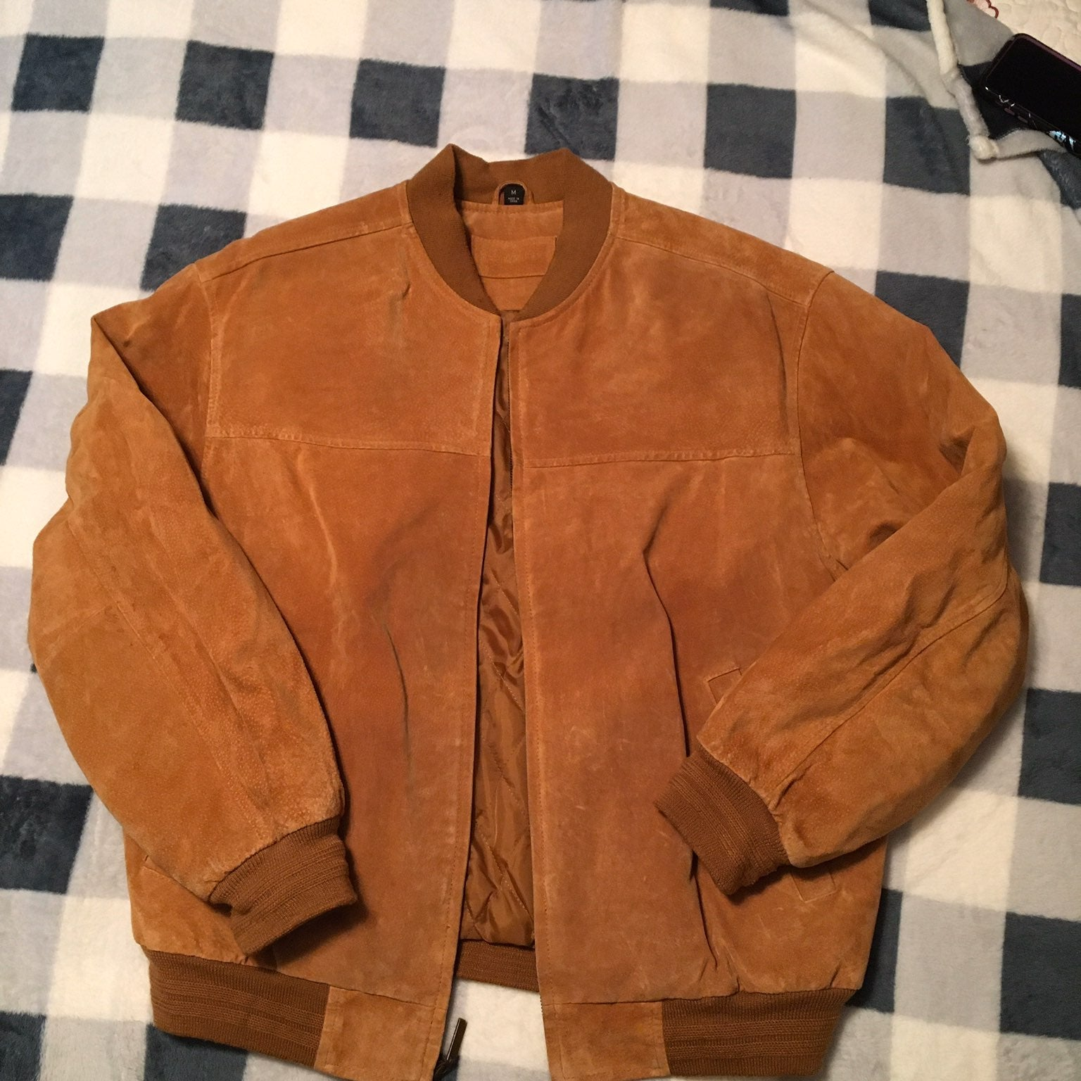 John ashford Leather Bomber Jacket sizeM