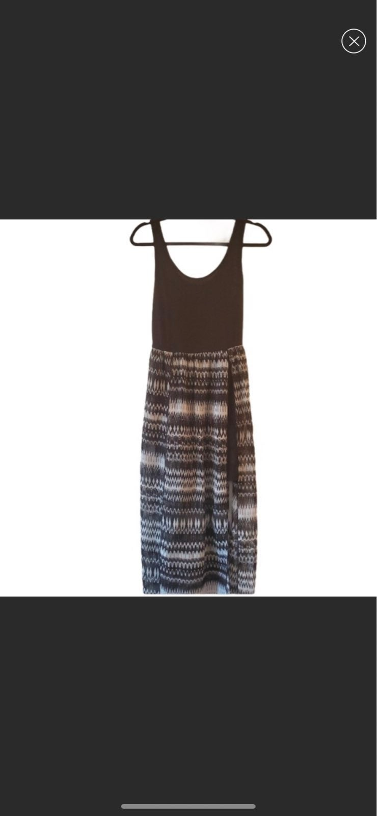Wet seal chevron black white maxi dress