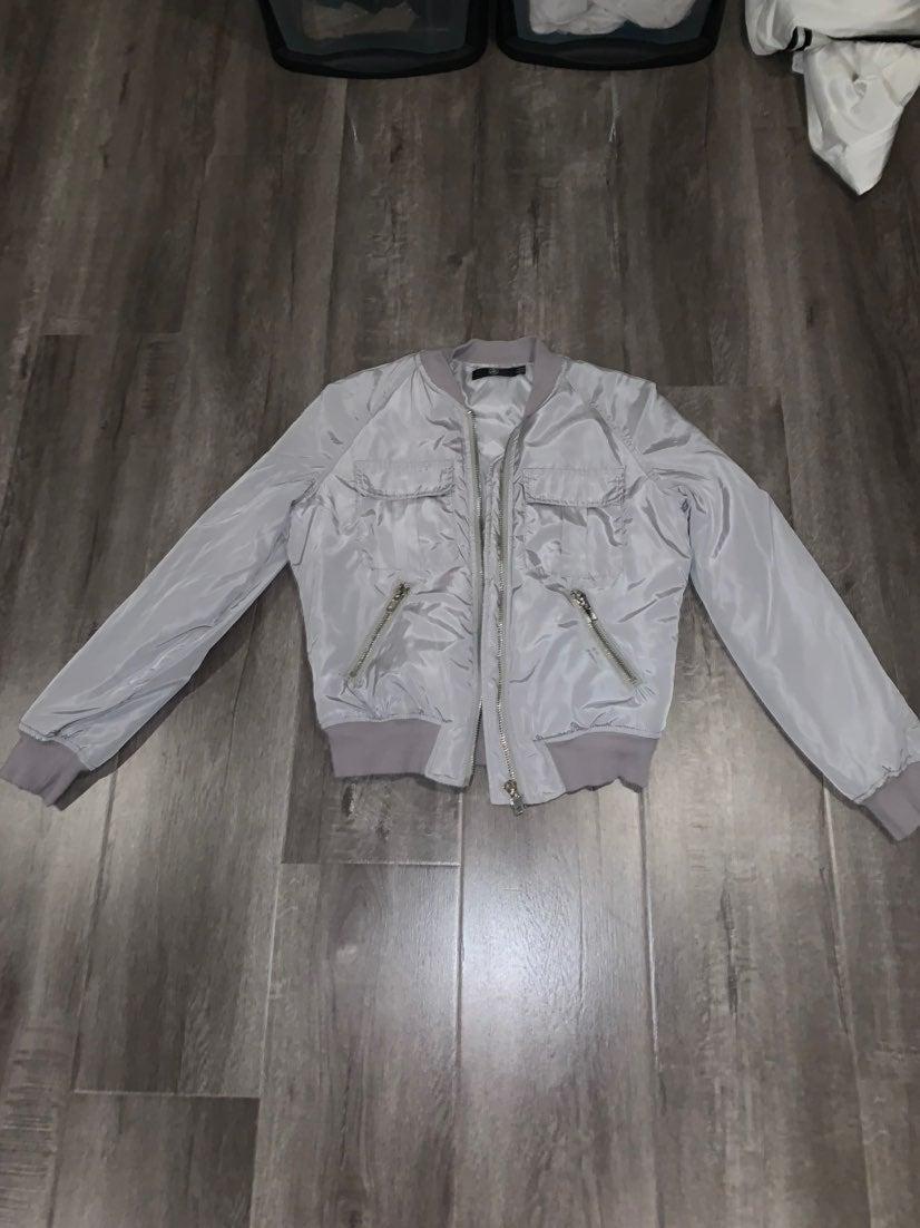 Missguided Grey Bomber Jacket