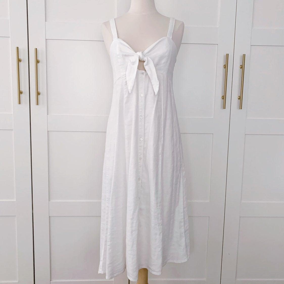 NWT Splendid Linen Bow Front Dress