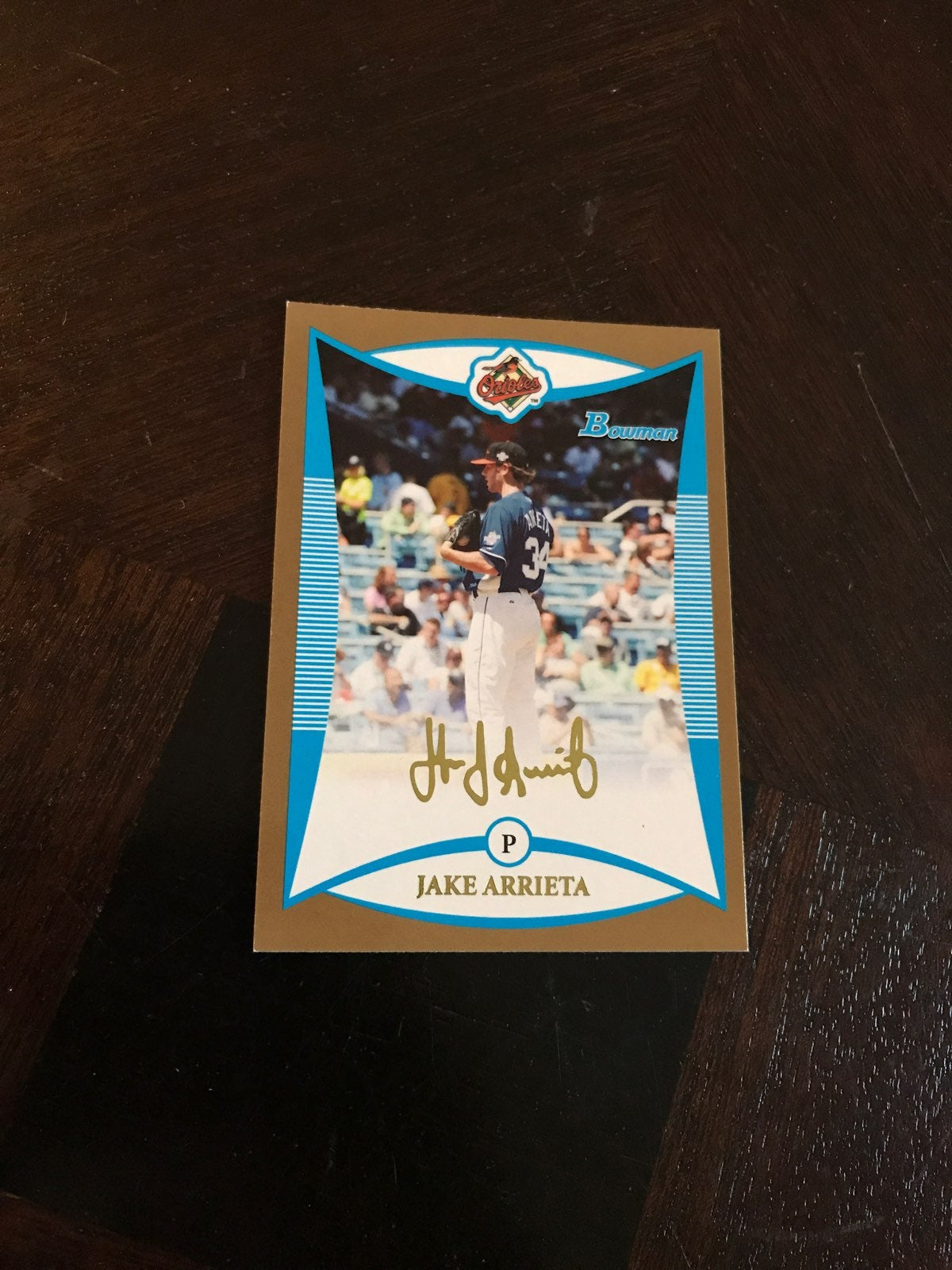 Jake Arrieta Gold Bowman Rookie Card