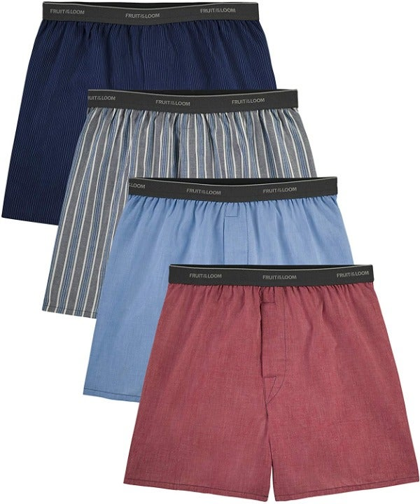 Fruit Of The Loom Mens Woven Boxers
