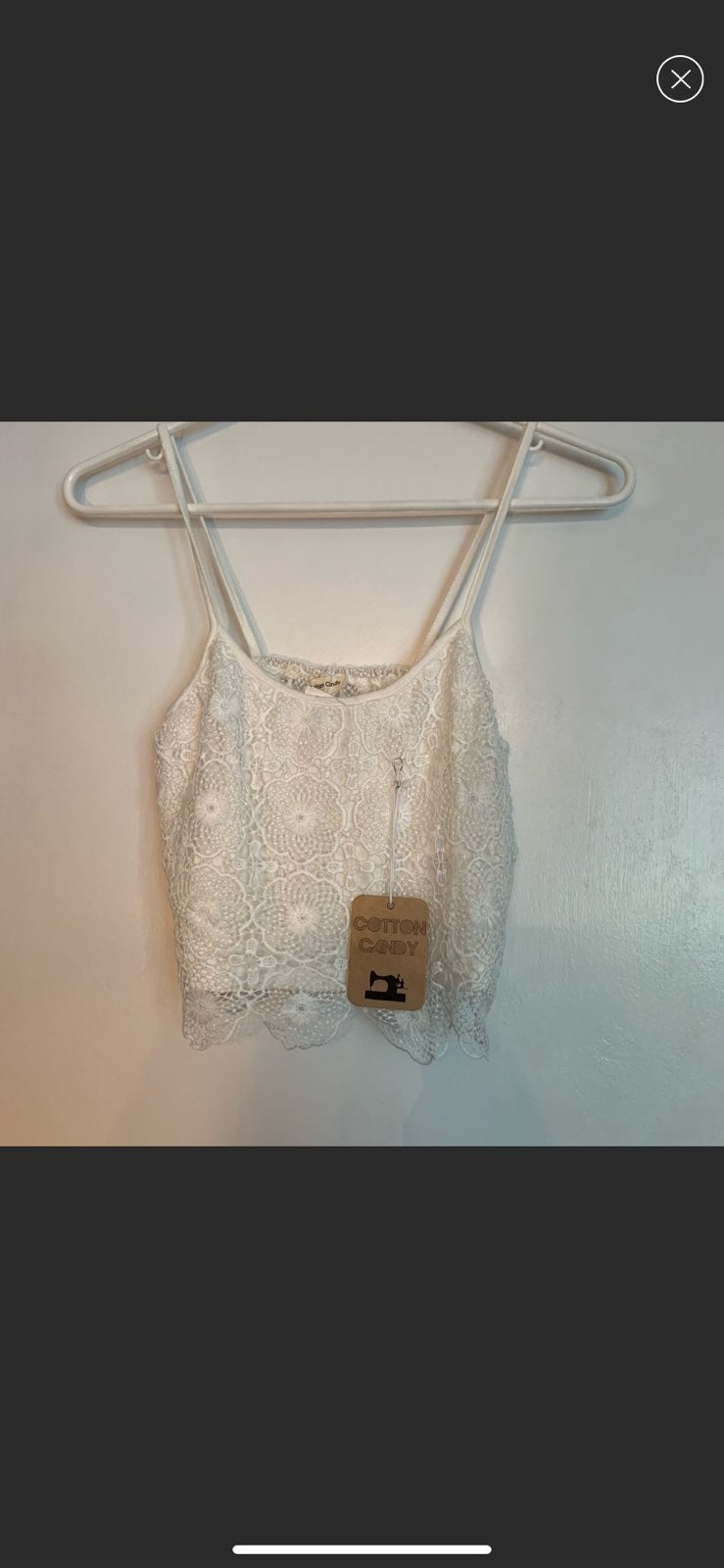 BRAND NEW Lace Cotton Candy Tank, S