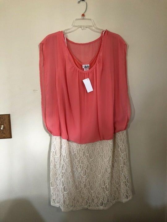 Deb Womens 3XLarge Coral Irovy Dress