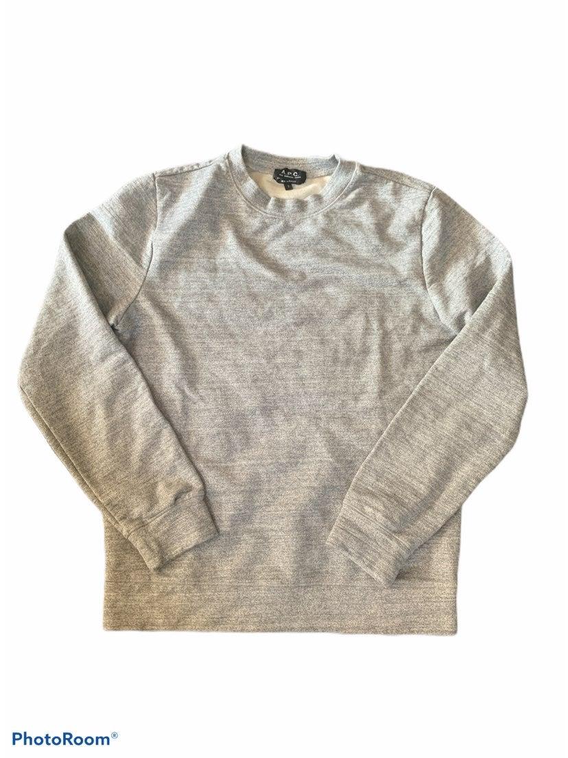 A.P.C heather grey Sweatshirt small