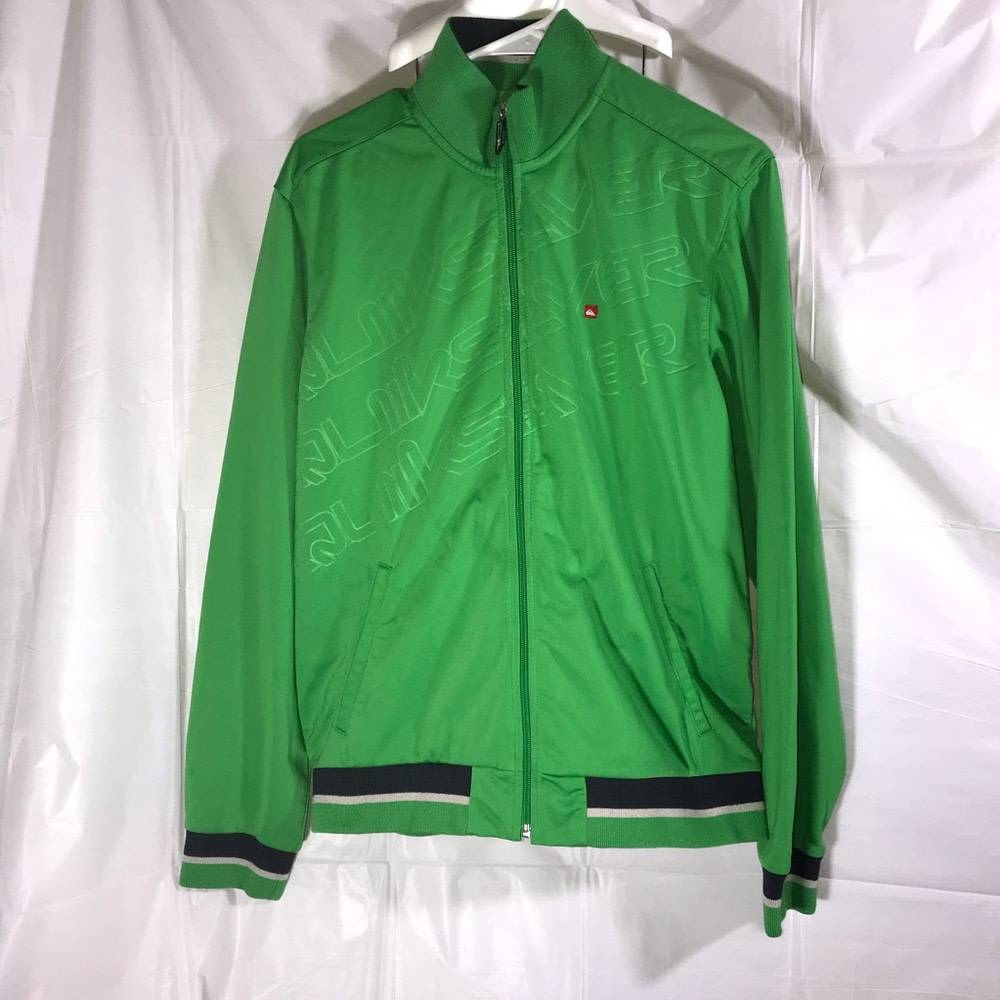 Quiksilver Lime Green Track Jacket Mens