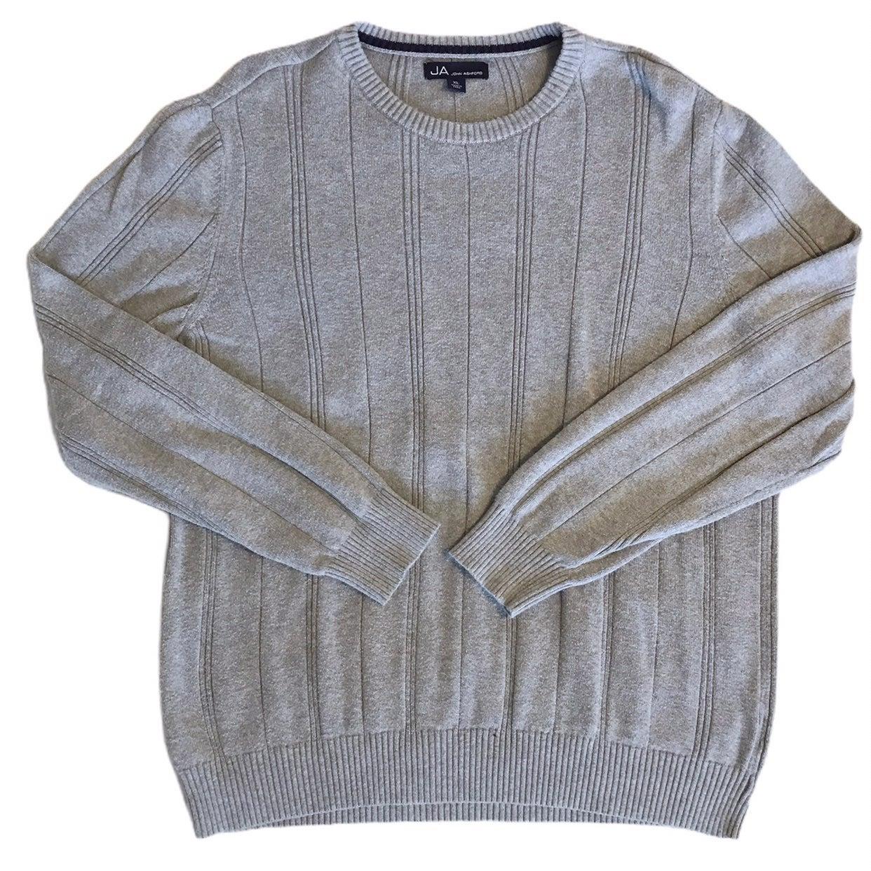 Mens John Ashford Gray Sweater