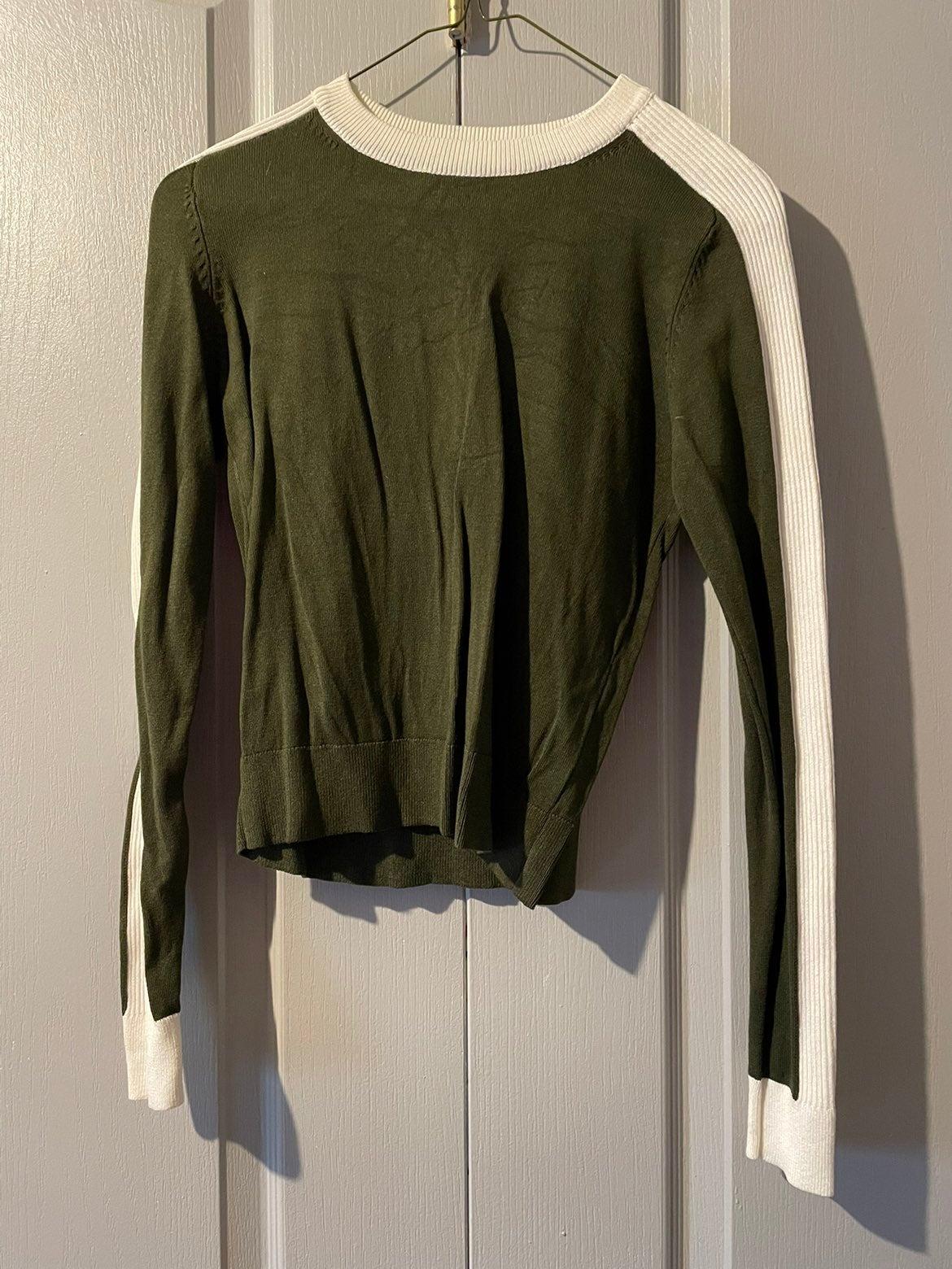 Zara Knit Green Sweater Size Small