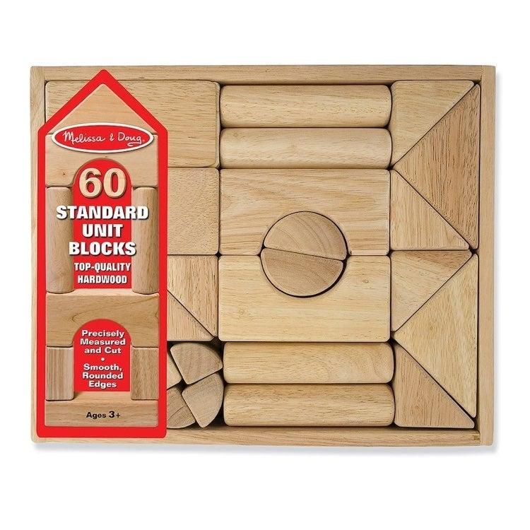 Melissa & Doug 60 Standard Unit Blocks T
