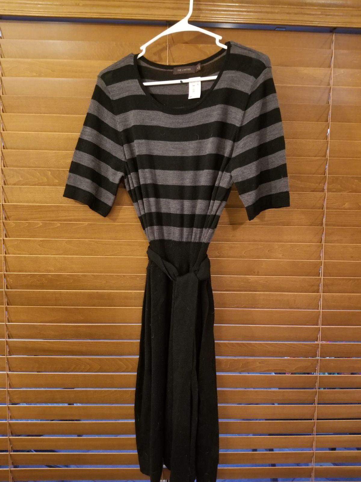 Black & Gray Sweater Dress