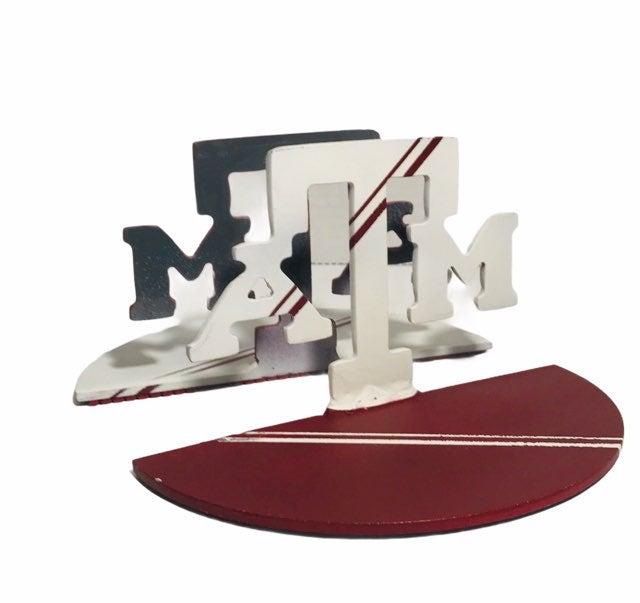 Texas A&M Logo Metal Bookends