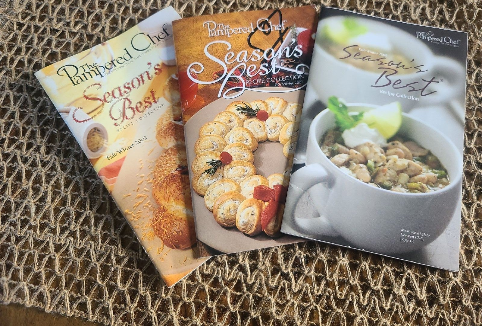 Pampered Chef Recipe Collection Booklets