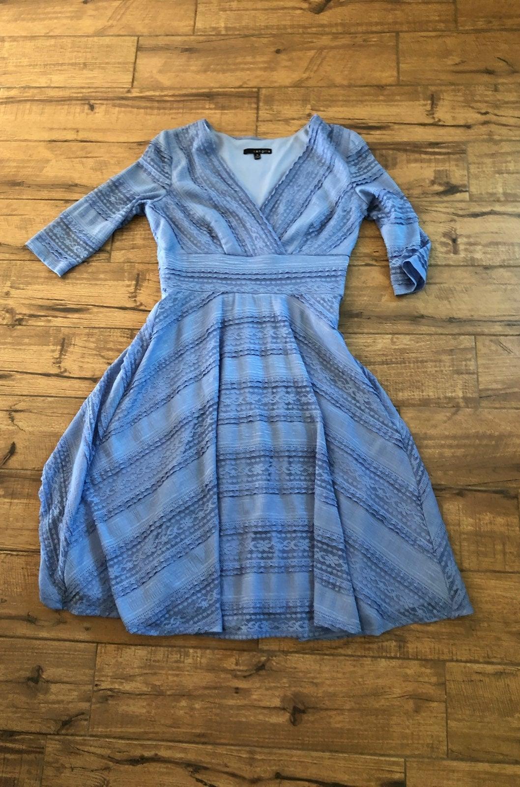 Sangria Modest Blue Lace Dress 12