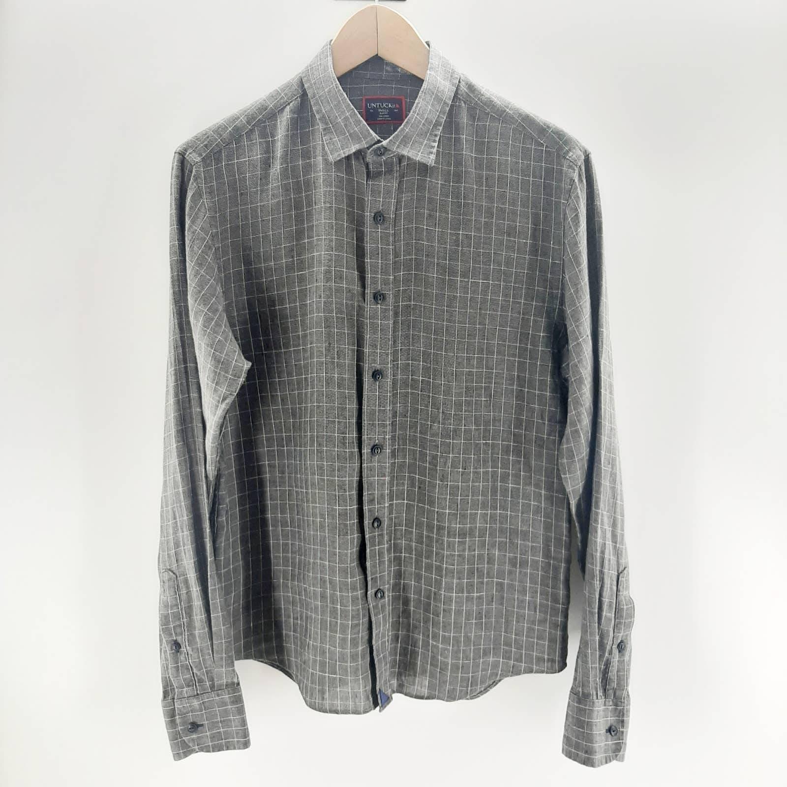UNTUCKit Linen Plaid Button Front Shirt