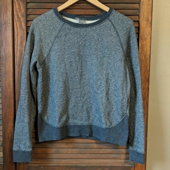 Vince Crew Cotton Heathered Sweatshirt