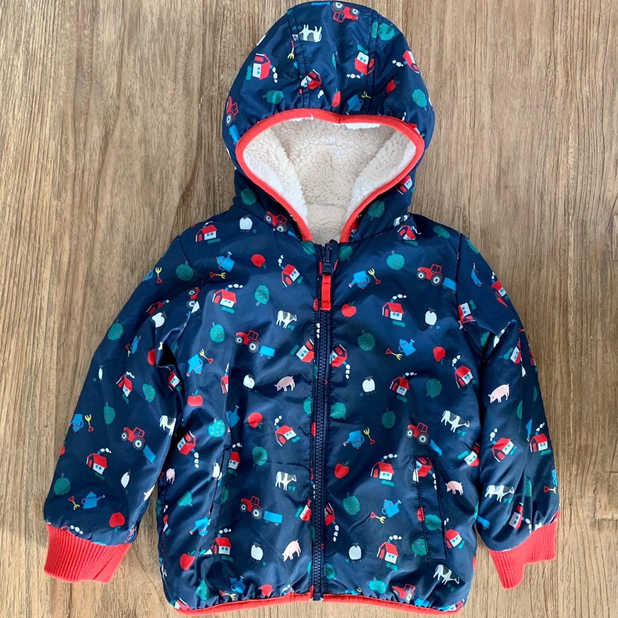 Baby Boden Farmyard Reversible Jacket