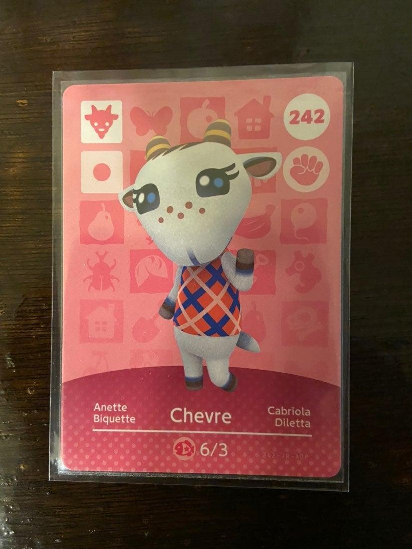 Animal Crossing Amiibo card Chevre 242