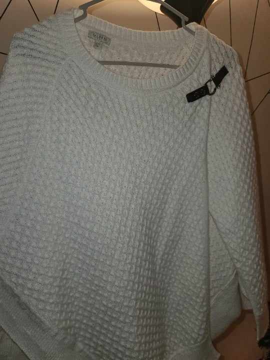 White Sweater PONCHO Style from TALBOTS