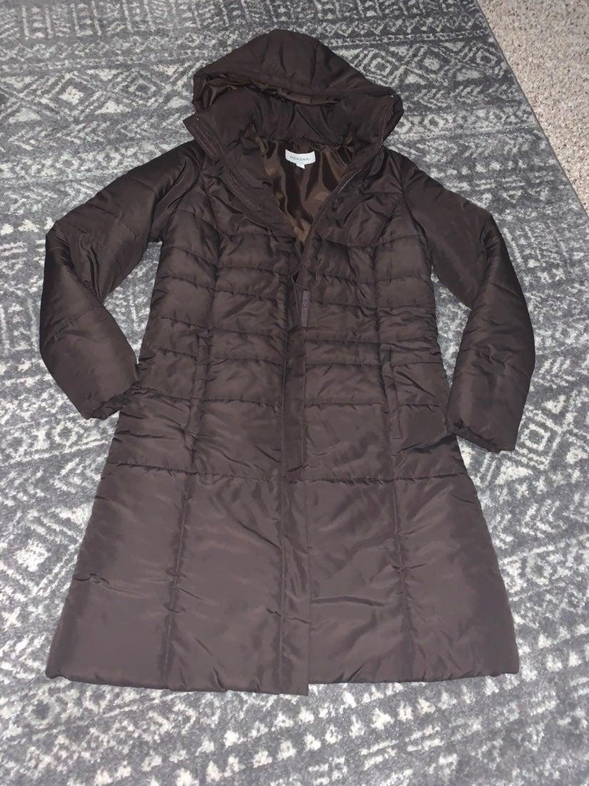 Merona brown puffer jacket medium