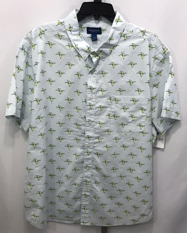 Arizona Blue S/S Button Up Shirt 2XL New