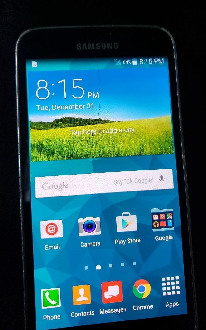 Samsung Galaxy S5 Cracked Screen