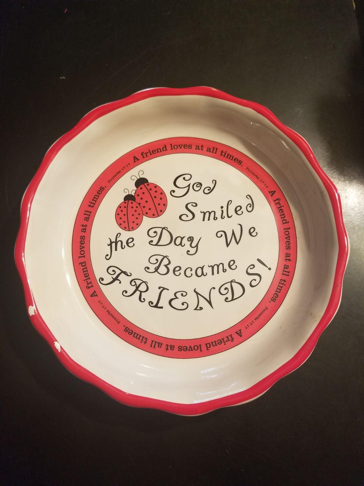 "ABBEY PRESS 10"" Stoneware Pie Plate"