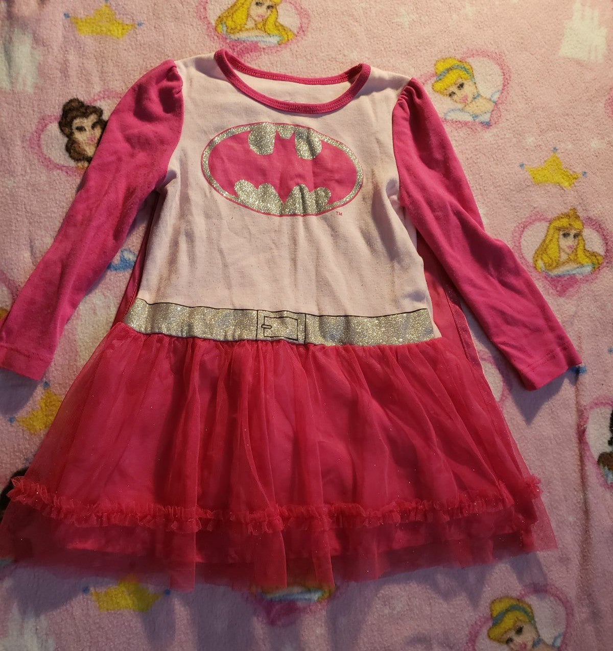 4t Batgirl dress with velcro cape