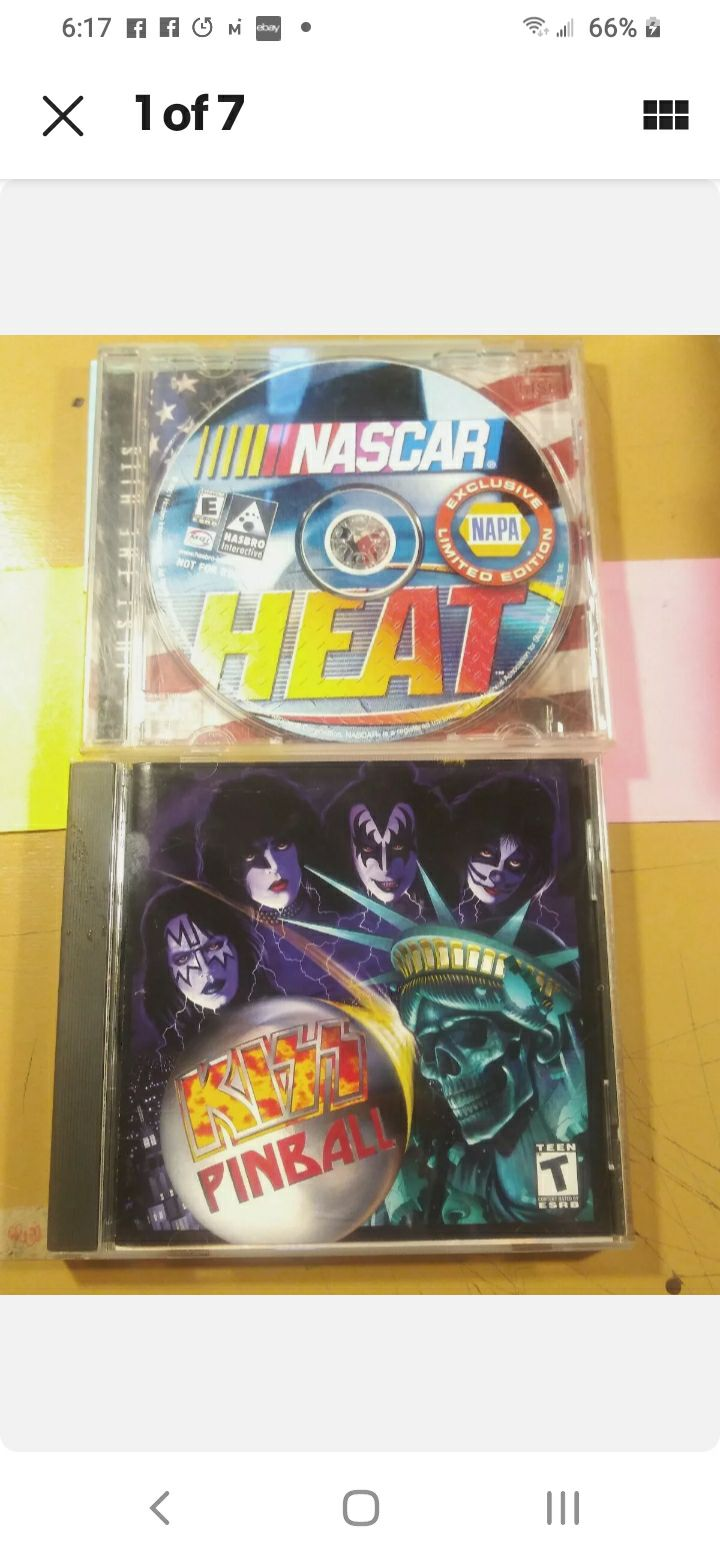 Kiss Pinball/Nascar Heat CDR