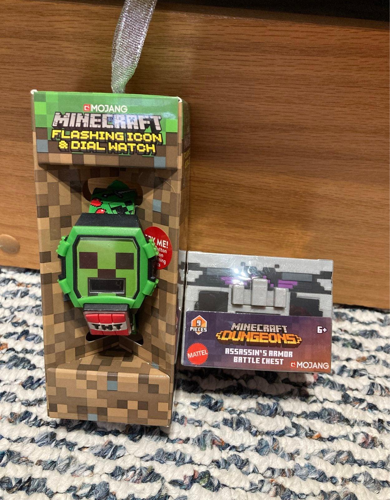 Minecraft watch & battle chest