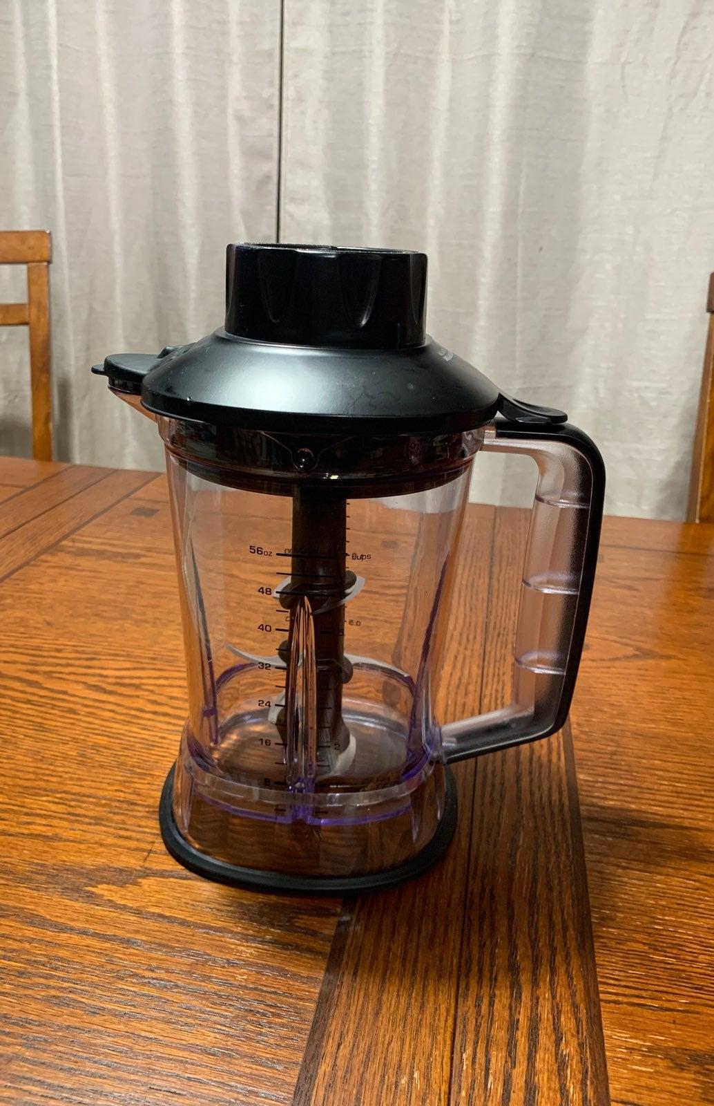 Ninja 56oz 7 Cup Plastic Bowl Jar W/  Bl