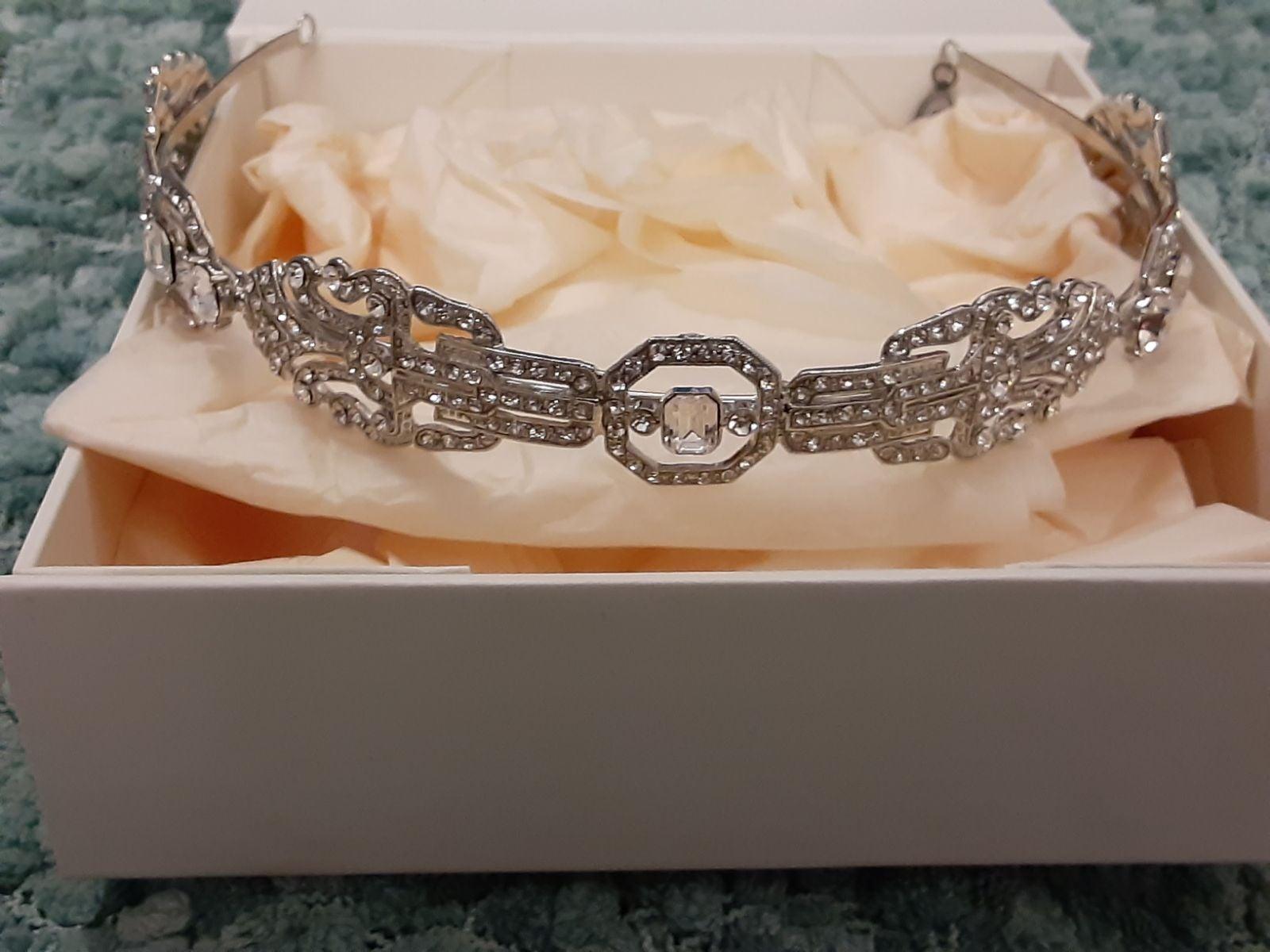 zac posen crystal art deco headband