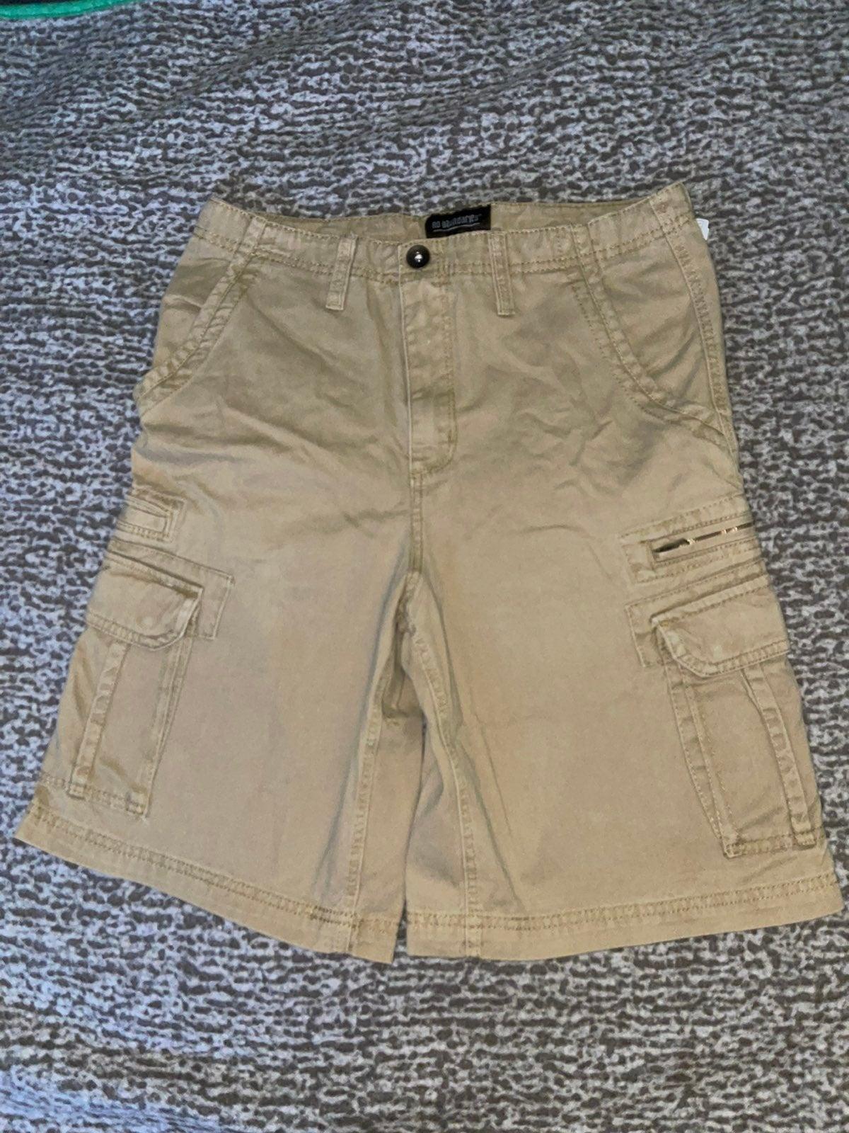 Mens No Boundries Khaki Cargo Shorts