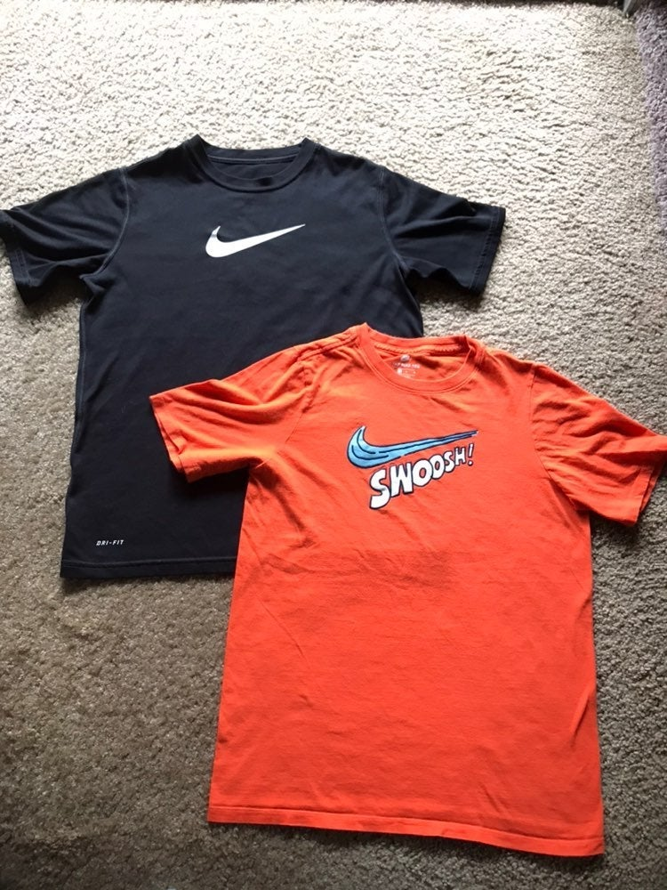 Nike Boys shirts sz L Lot of 2