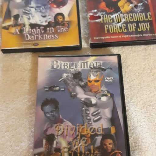 Bibleman dvd lot of 3, 2002  preownened