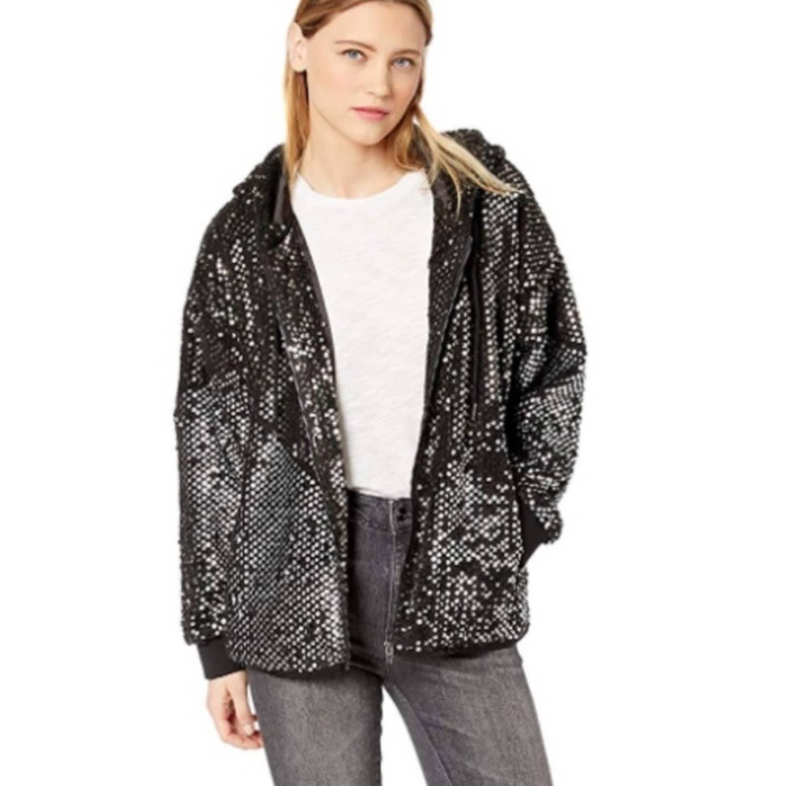 NWT BLANKNYC Black Sequin Lights Jacket