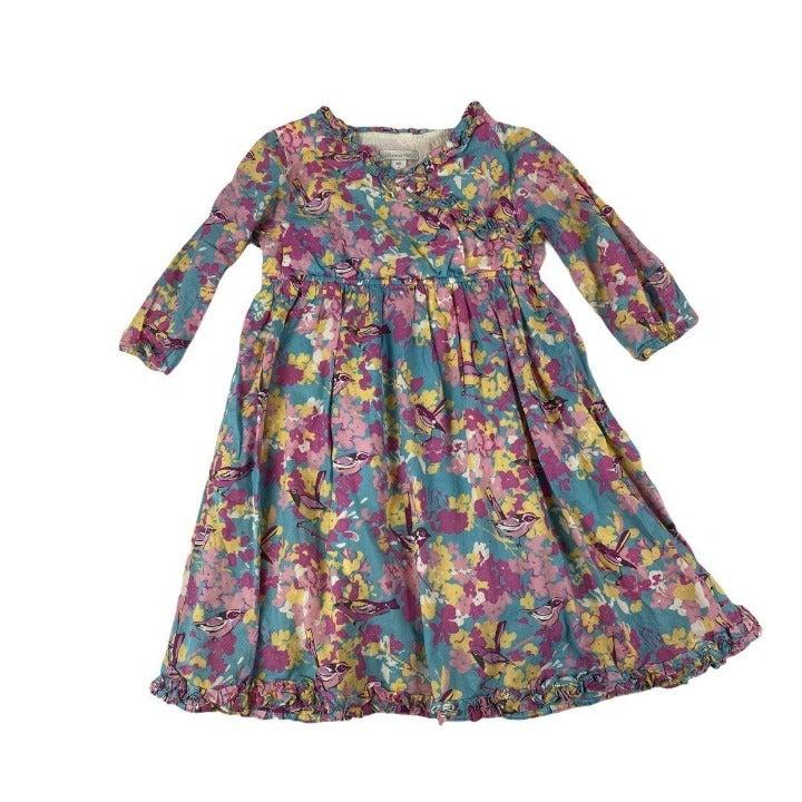 Garnet Hill Pink Bird Dress