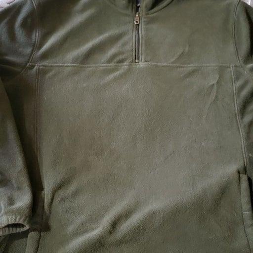 Mens Green Half Zip Sweater