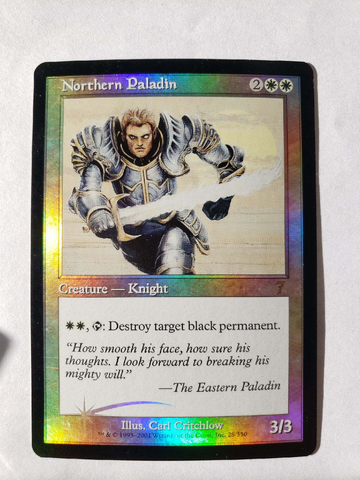 Northern Paladin foil magic the gatherin